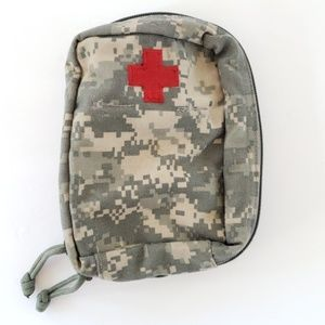 Army Medical pouch authentic canvas camouflage